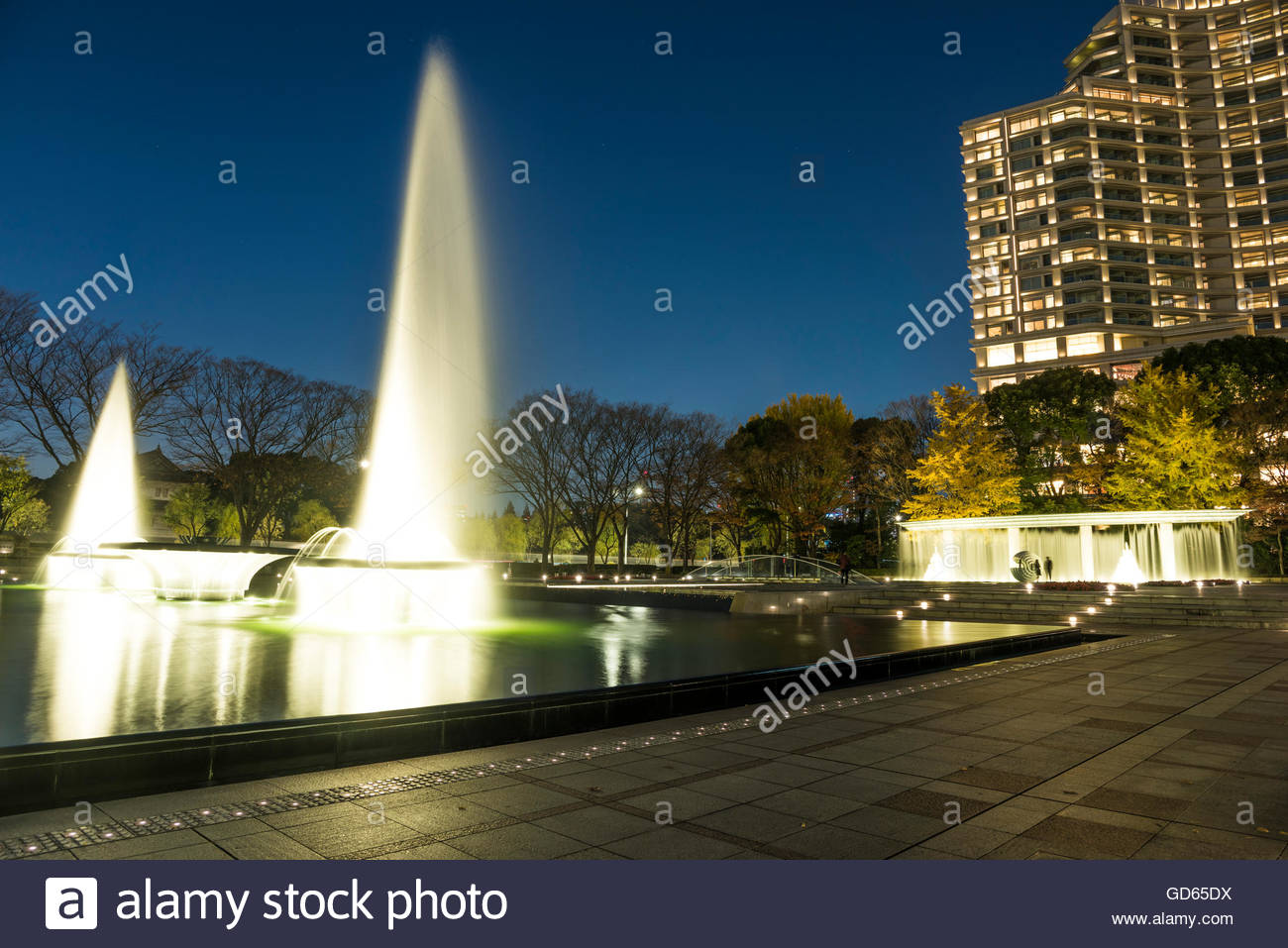 21_21 Design Sight Tokyo, Wadakura Fountain Park, Kokyogaien National Gardens Stock Photo ...