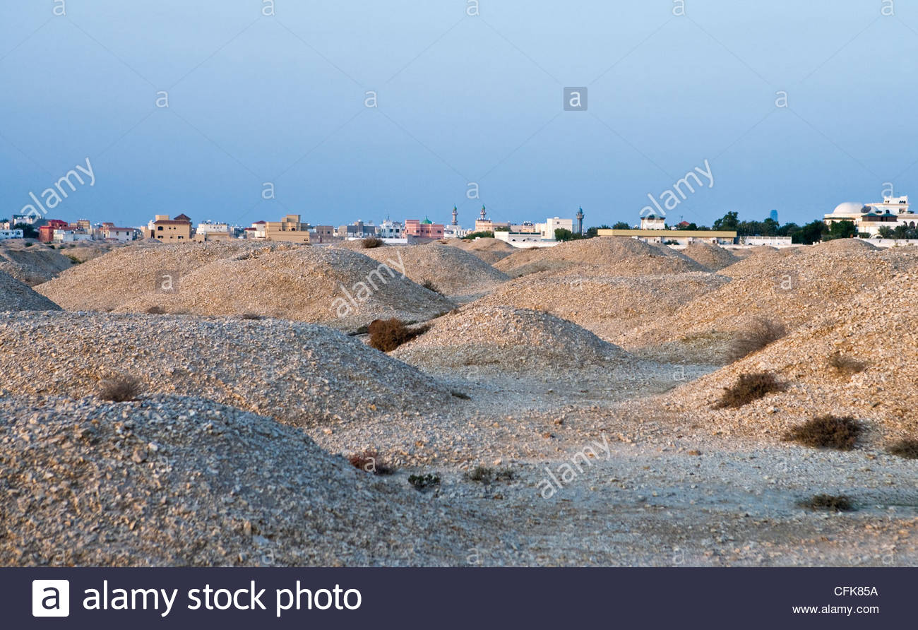 A'Ali Burial Mounds A'Ali, Bahrain, A'Ali, the Burial Mounds area Stock Photo, Royalty Free ...