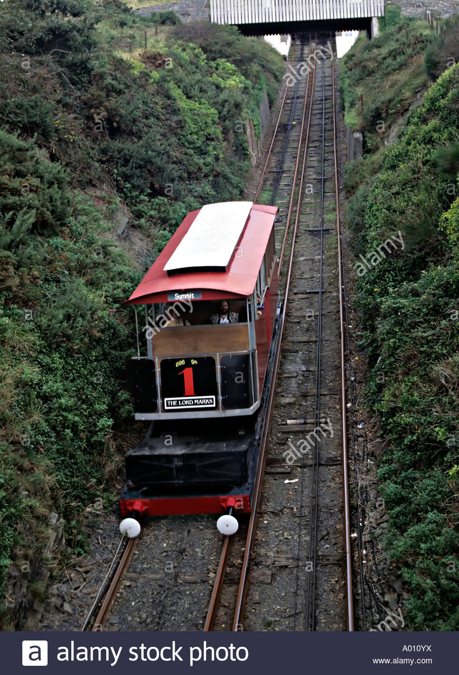 Aberystwyth Cliff Railway Mid-Wales, Cliff railway on Constitution Hill the longest electric cliff ...