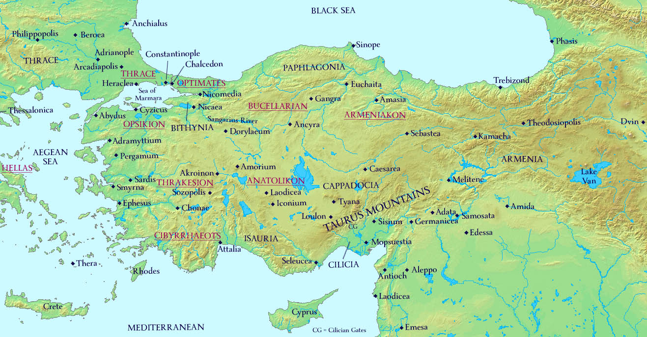 Akdamar The Far East and Black Sea Coast, Maps | The History of Byzantium