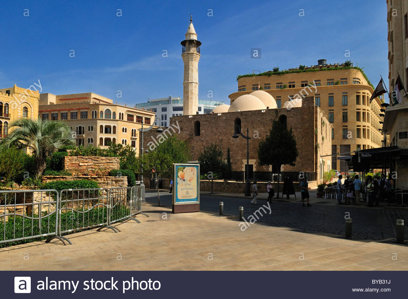 Al Omari Mosque Beirut, Al Omari mosque in the historic center of Beirut, Beyrouth ...
