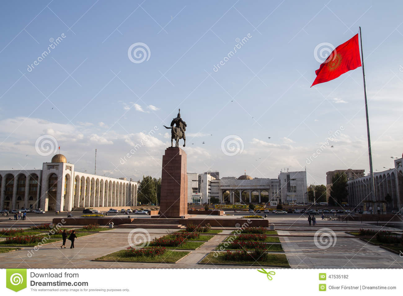 Ala-Too Square Bishkek, Ala-Too Square Bishkek editorial photography. Image of stones ...