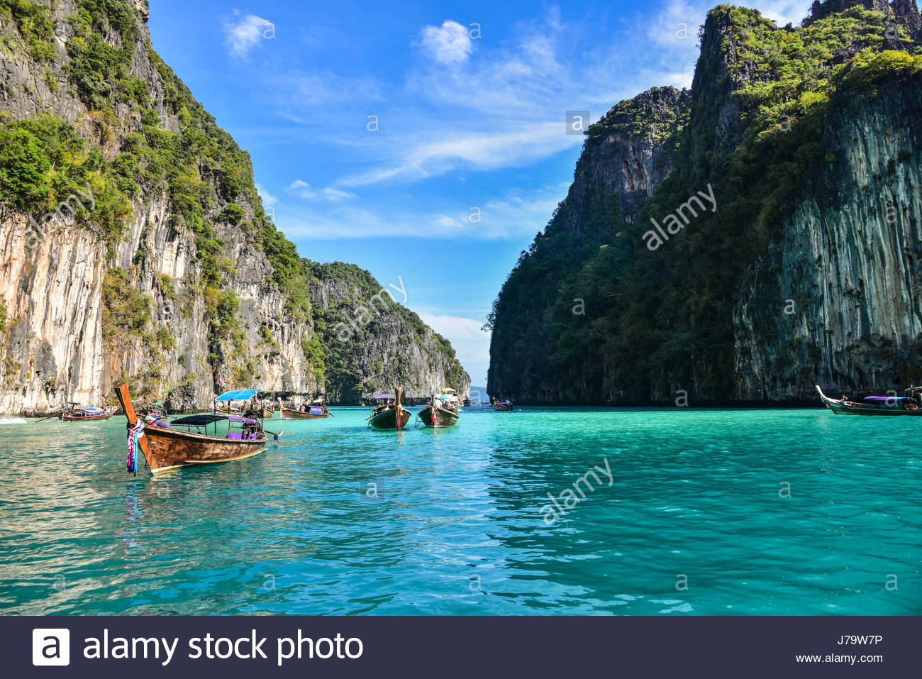 Ao Pileh Ko Phi-Phi Don, Pileh Lagoon in Ko Phi Phi Island - Thailand Stock Photo, Royalty ...