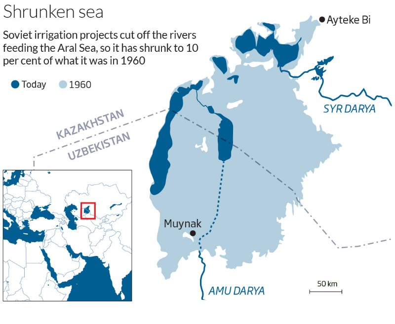 Aral Sea Aral, History shows that parched Aral Sea can be restored | New Scientist