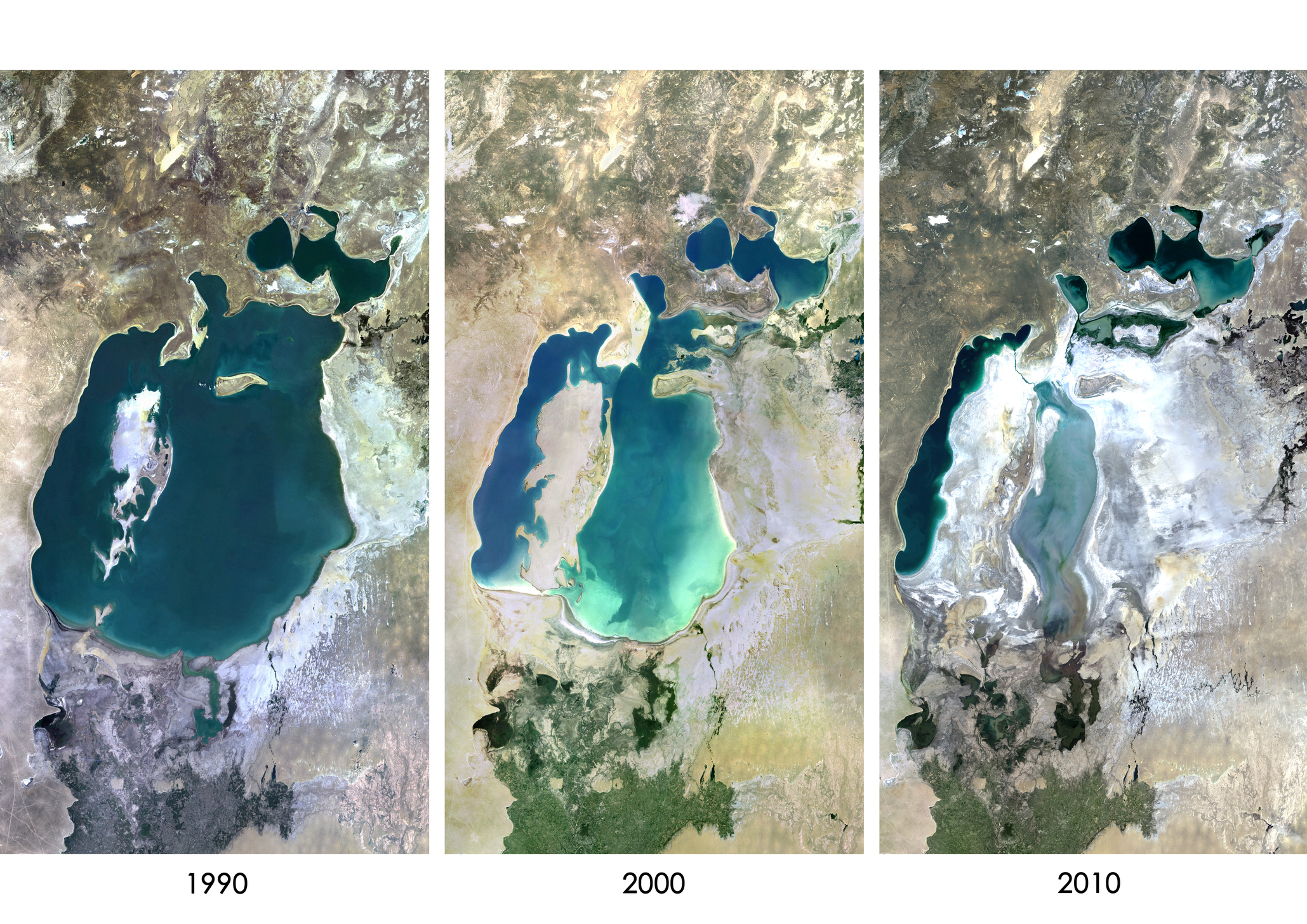 Aral Sea Aral, Shocking satellite images show Aral Sea has almost disappeared ...