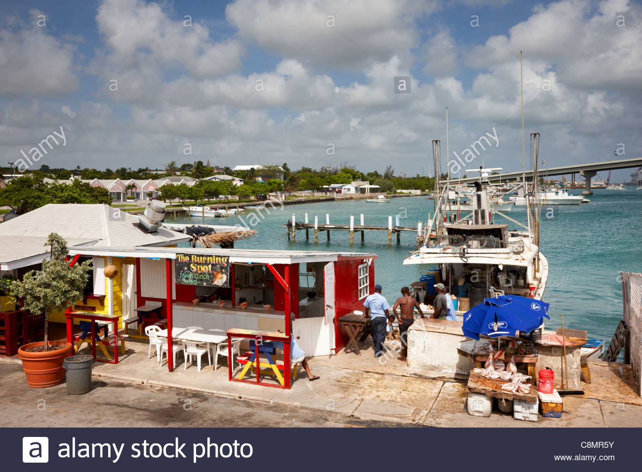 Arawak Cay New Providence and Paradise Islands, Bahamas Nassau Restaurant Stock Photos & Bahamas Nassau Restaurant ...