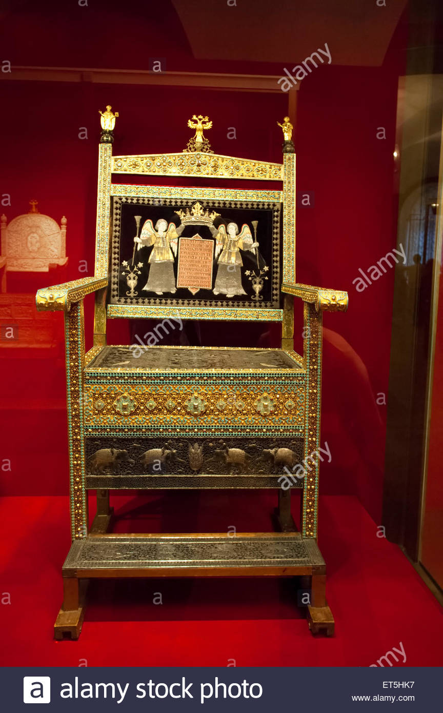 Armory Chamber Moscow, The Diamond throne of Tsar Alexis Mikhailovich in the Armoury ...