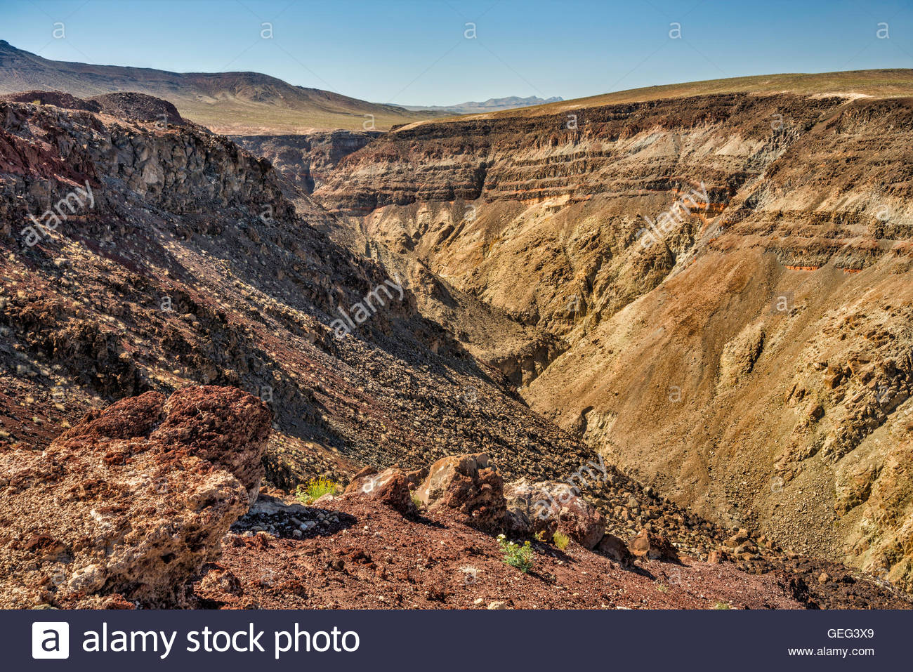 Artist's Palette Death Valley National Park, Rainbow Canyon in Panamint Valley area, view near Father Crowley ...