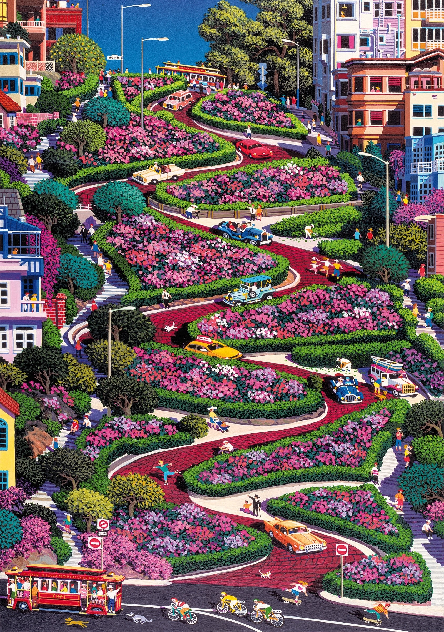 Axford House San Francisco, San Francisco - Lombard Street wooden jigsaw | Building and ...