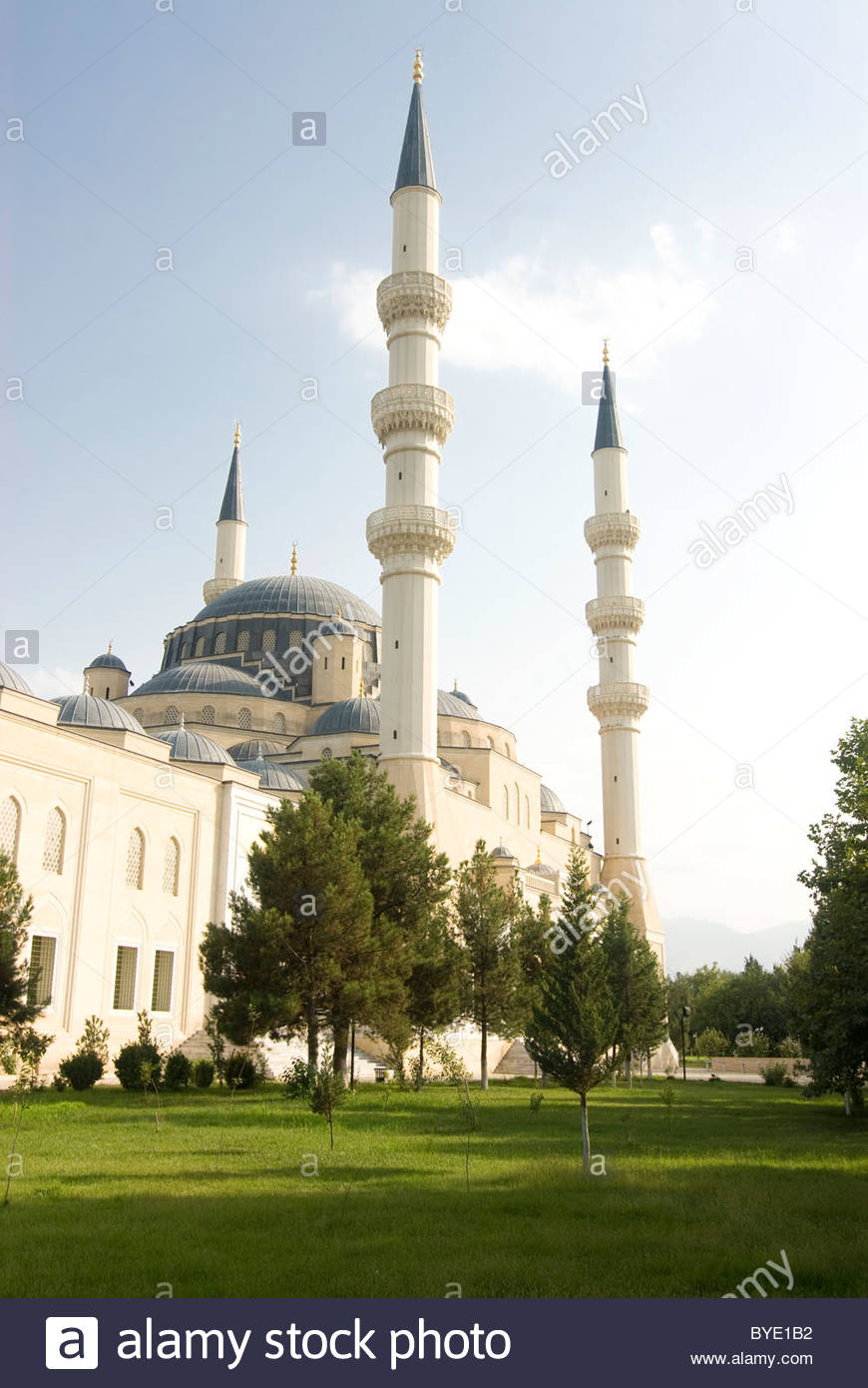 Azadi Mosque Ashgabat, Azadi Mosque, Ashgabat, Turkmenistan, Central Asia Stock Photo ...