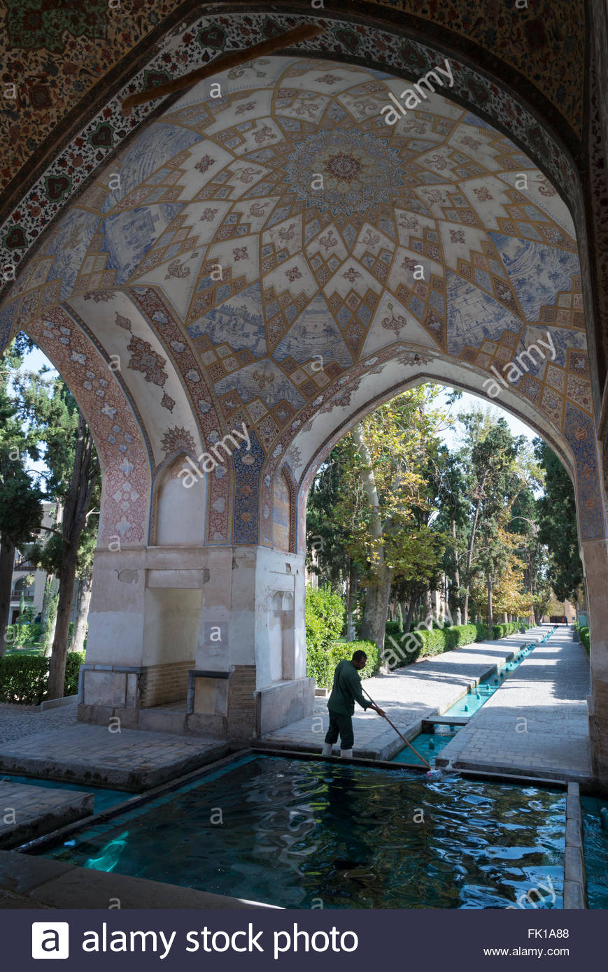 Bagh-e Fin Kashan, Bagh e Fin Persian gardens. Kashan. Iran Stock Photo, Royalty Free ...