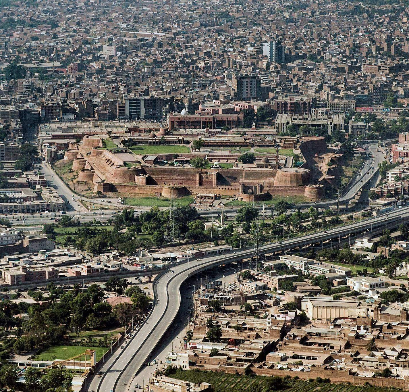Bala Hisar Fort Peshawar, Aerial View of the Bala Hisar Fort (قلعہ بالاحصار) in the Heart of ...