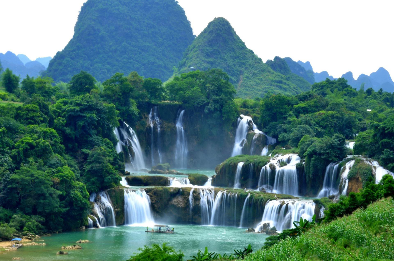 Ban Gioc Waterfall Cao Bang, Ban Gioc waterfall : Discover Vietnam 's most beautiful waterfalls ...
