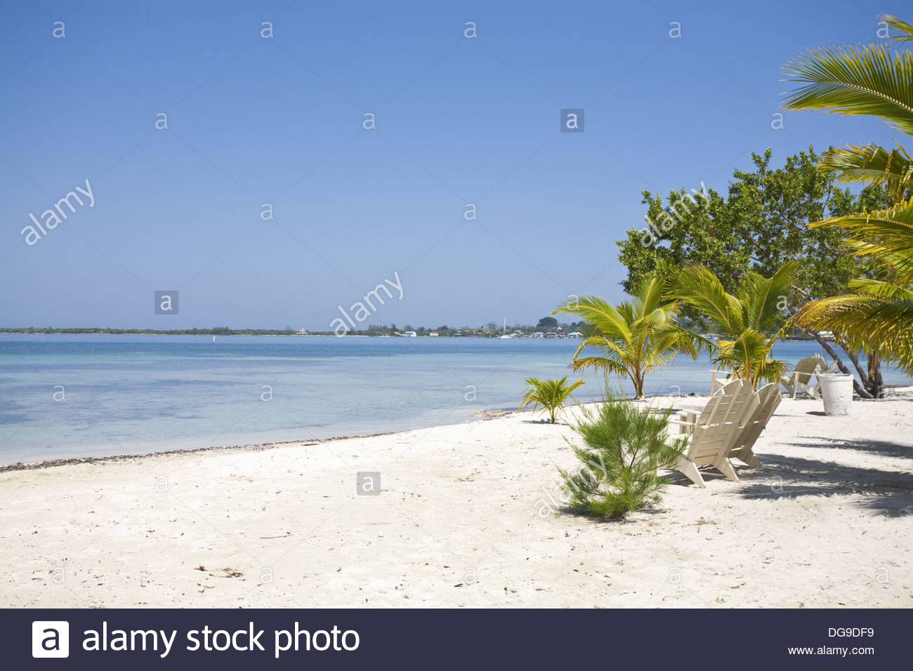 Bando Beach Utila, Bando Beach, Utila, Bay Islands, Honduras Stock Photo, Royalty ...