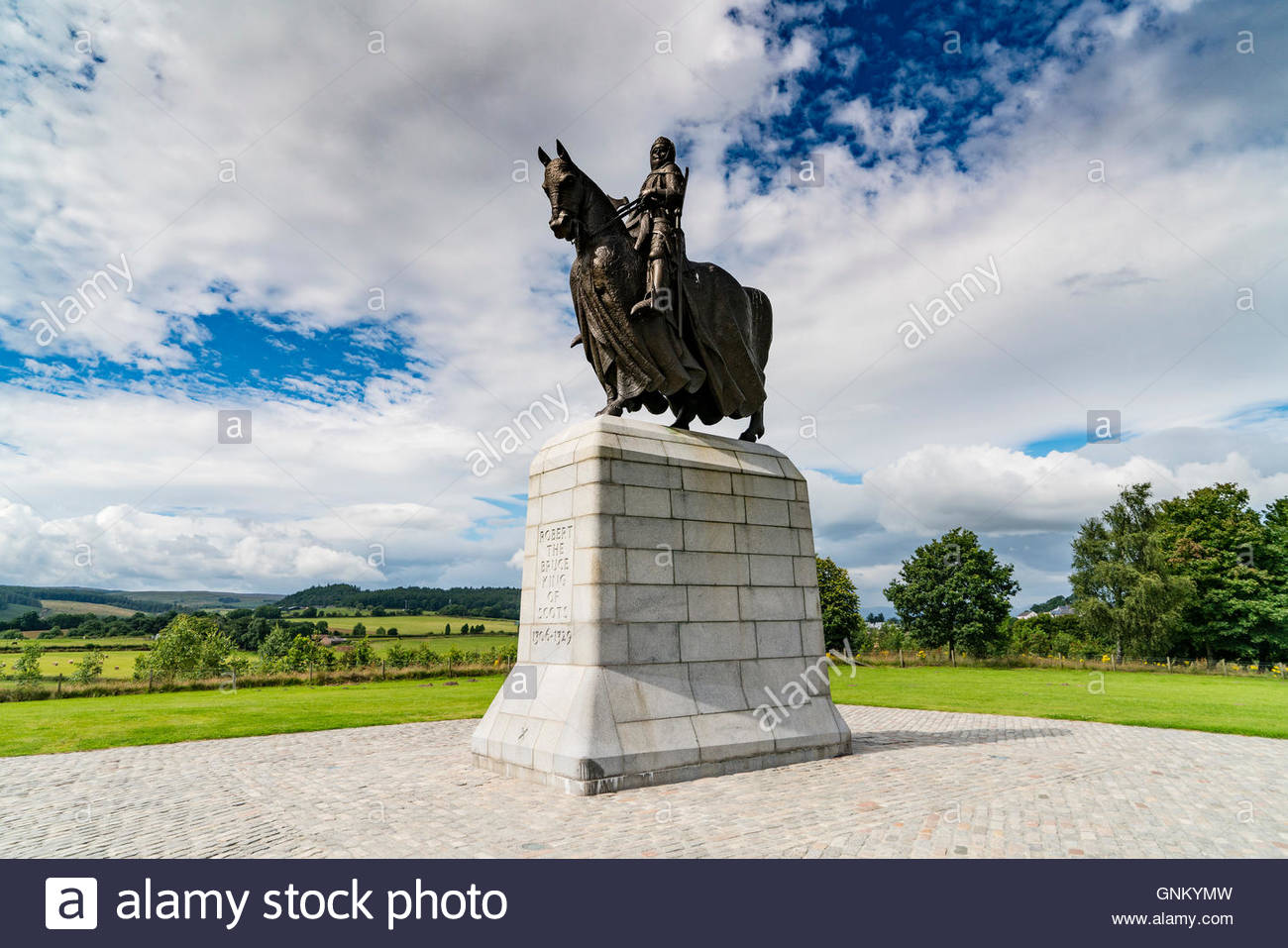 Bannockburn Heritage Centre Stirling, Statue of King Robert the Bruce at Bannockburn Heritage Centre in ...