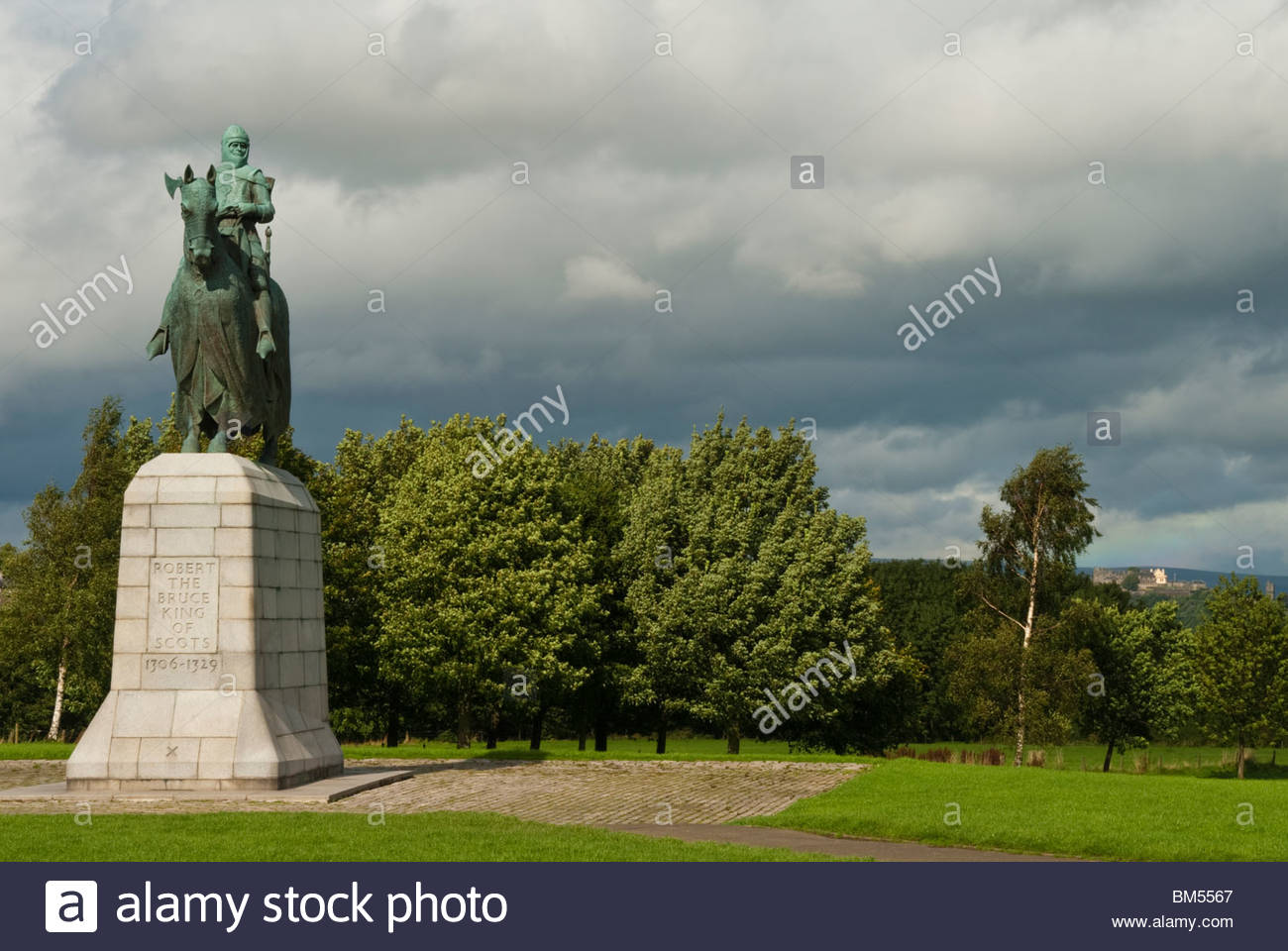 Bannockburn Heritage Centre Stirling, Statue of King Robert the Bruce at Bannockburn Heritage Centre ...