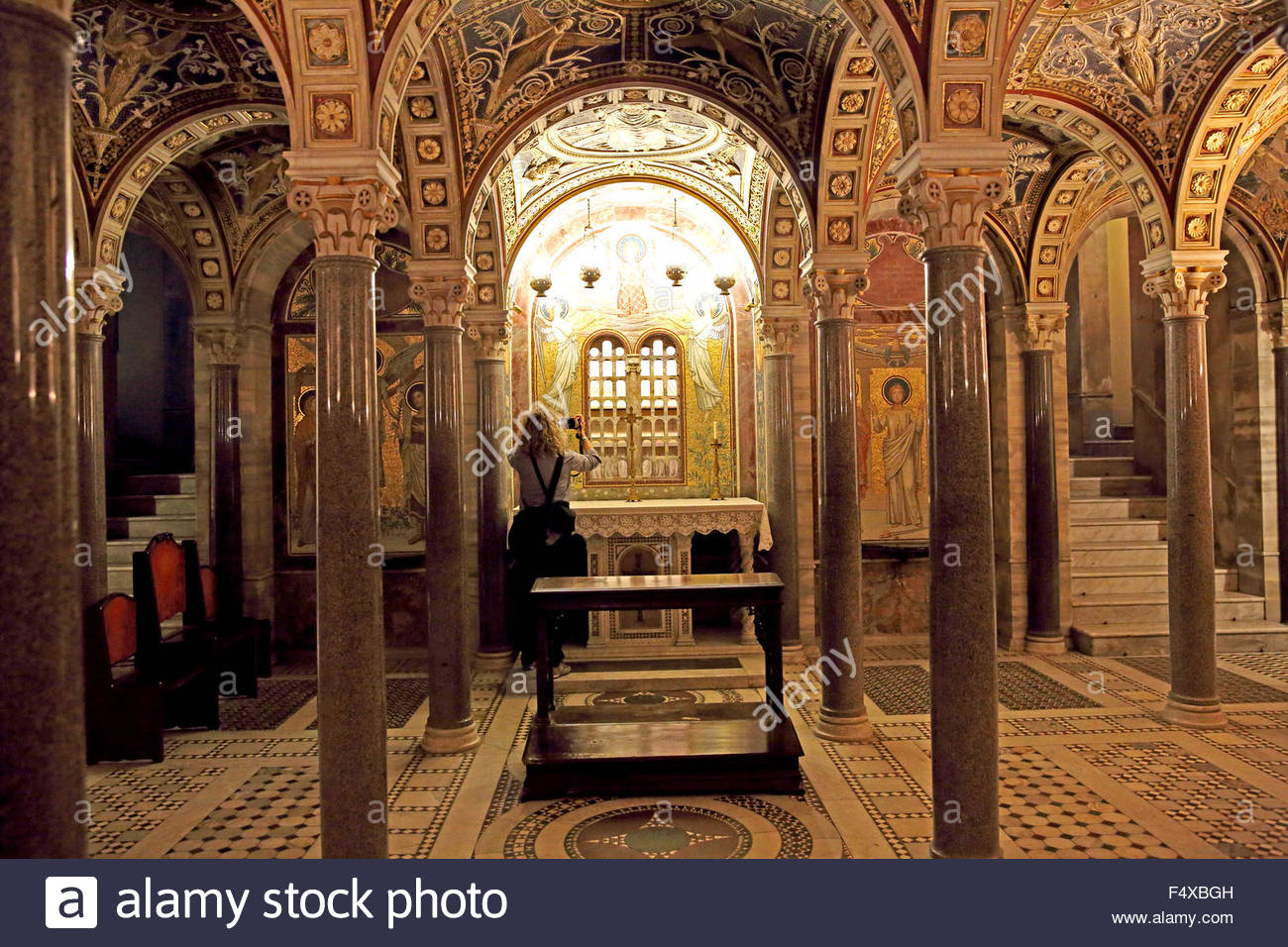 Santa Cecilia in Trastevere Rome, The crypt of Basilica di Santa Cecilia in Trastevere in Rome Stock ...
