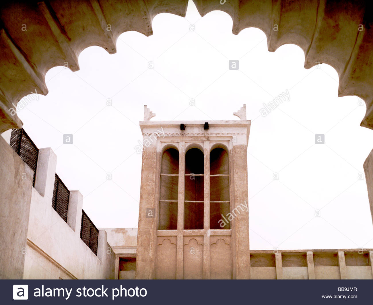 Beit Sheikh Isa Bin Ali Al Khalifa Muharraq Island, Wind Tower Bahrain House Stock Photos & Wind Tower Bahrain House ...