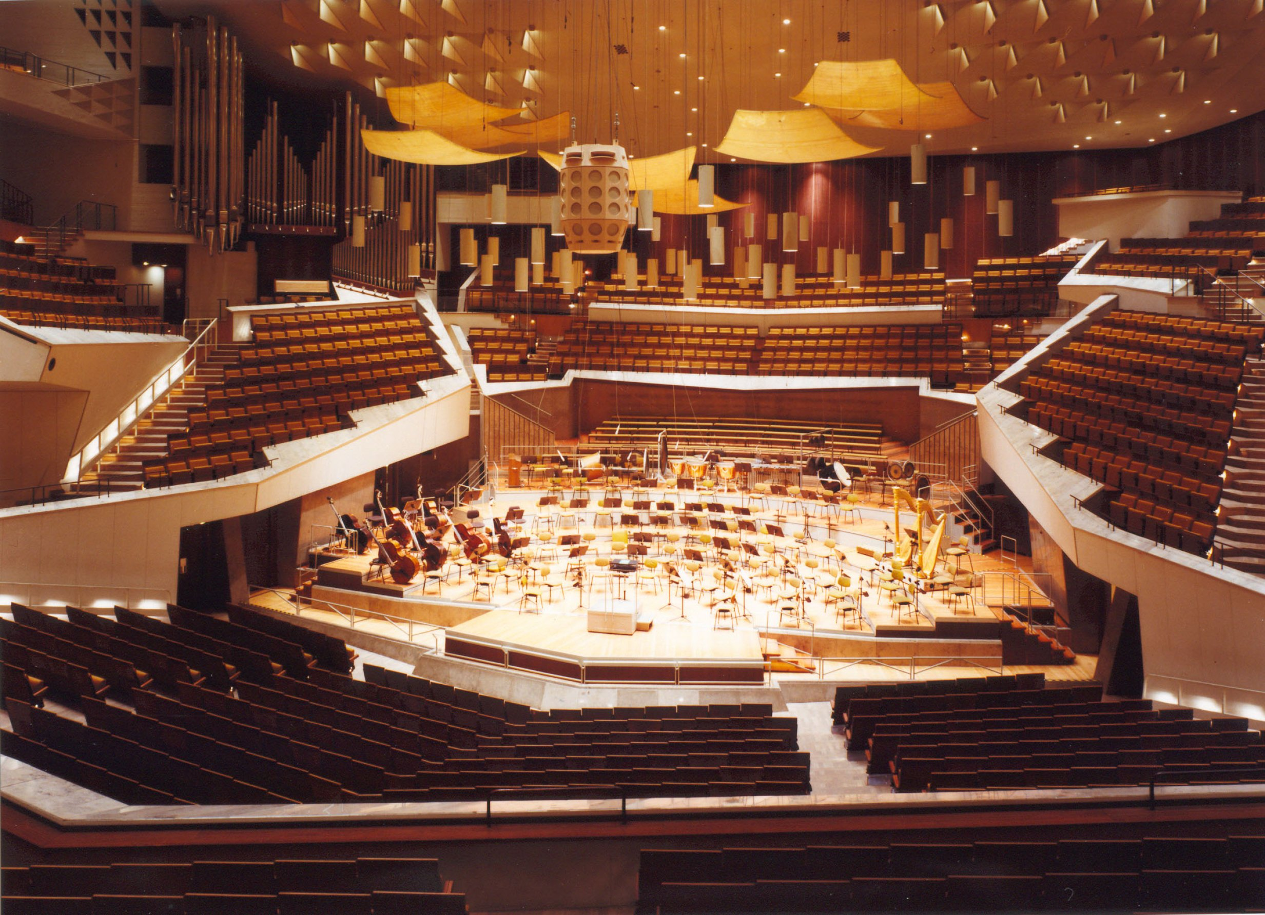 Berliner Philharmonie Berlin, Berliner Phiharmonic (Berliner Philharmoniker), 1963 by Hans ...