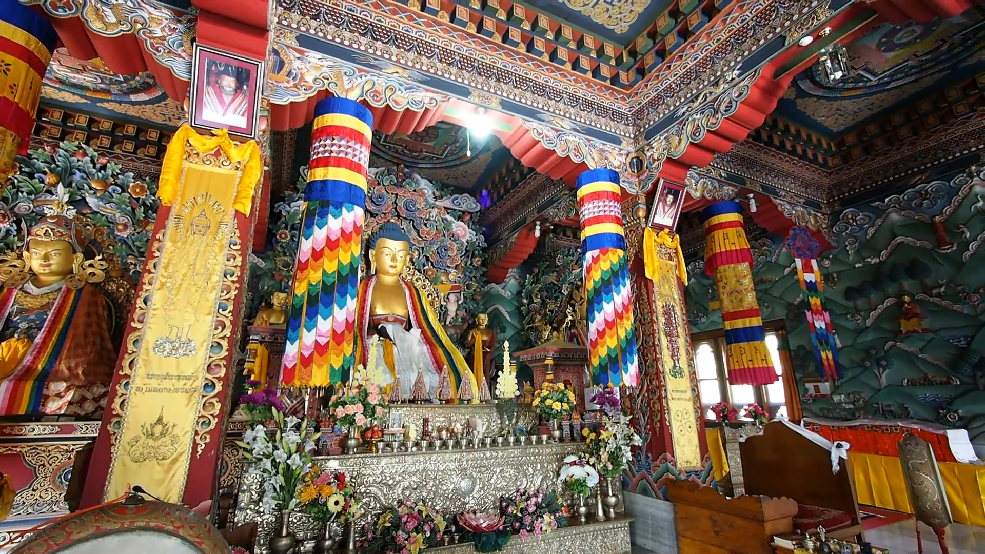 Bhutanese Monastery Bodhgaya, Inside the Royal Bhutan Monastery in Bodhgaya, Bihar, India Stock ...
