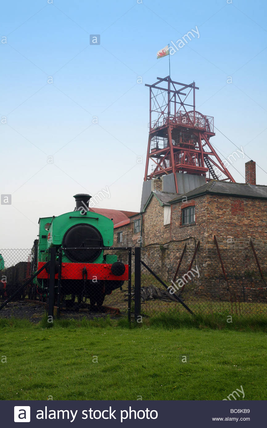 Big Pit National Coal Museum Blaenavon (Blaenafon), Steam train at The Big Pit - The National Mining Museum of Wales ...