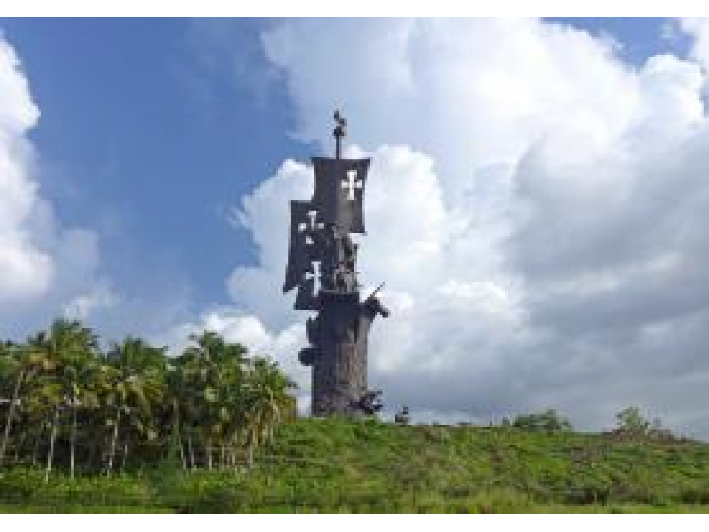 Birth of the New World Statue Arecibo, The Construction of the Birth of the New World Monument by Zurab ...