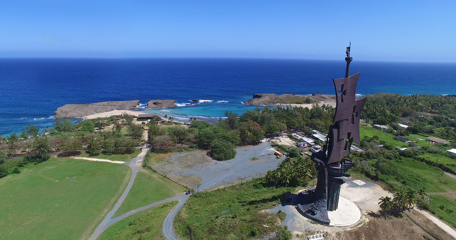Birth of the New World Statue Arecibo, TerraVista Parkland- Discover the History... Feel the Adventure ...