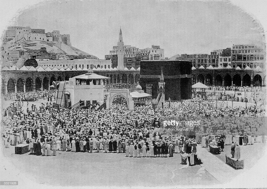 Birthplace of Mohammed Mecca, Crowds gathered on a pilgrimage at the Kaaba, the birthplace of ...
