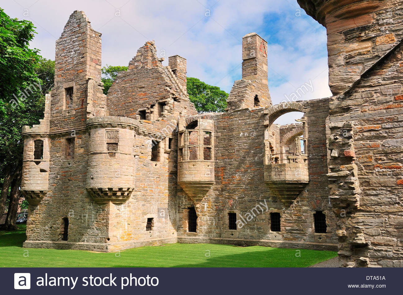 Bishop's and Earl's Palaces Orkney and Shetland Islands, Ruins of the Bishop's Palace, Kirkwall, Mainland, Orkney, Scotland ...