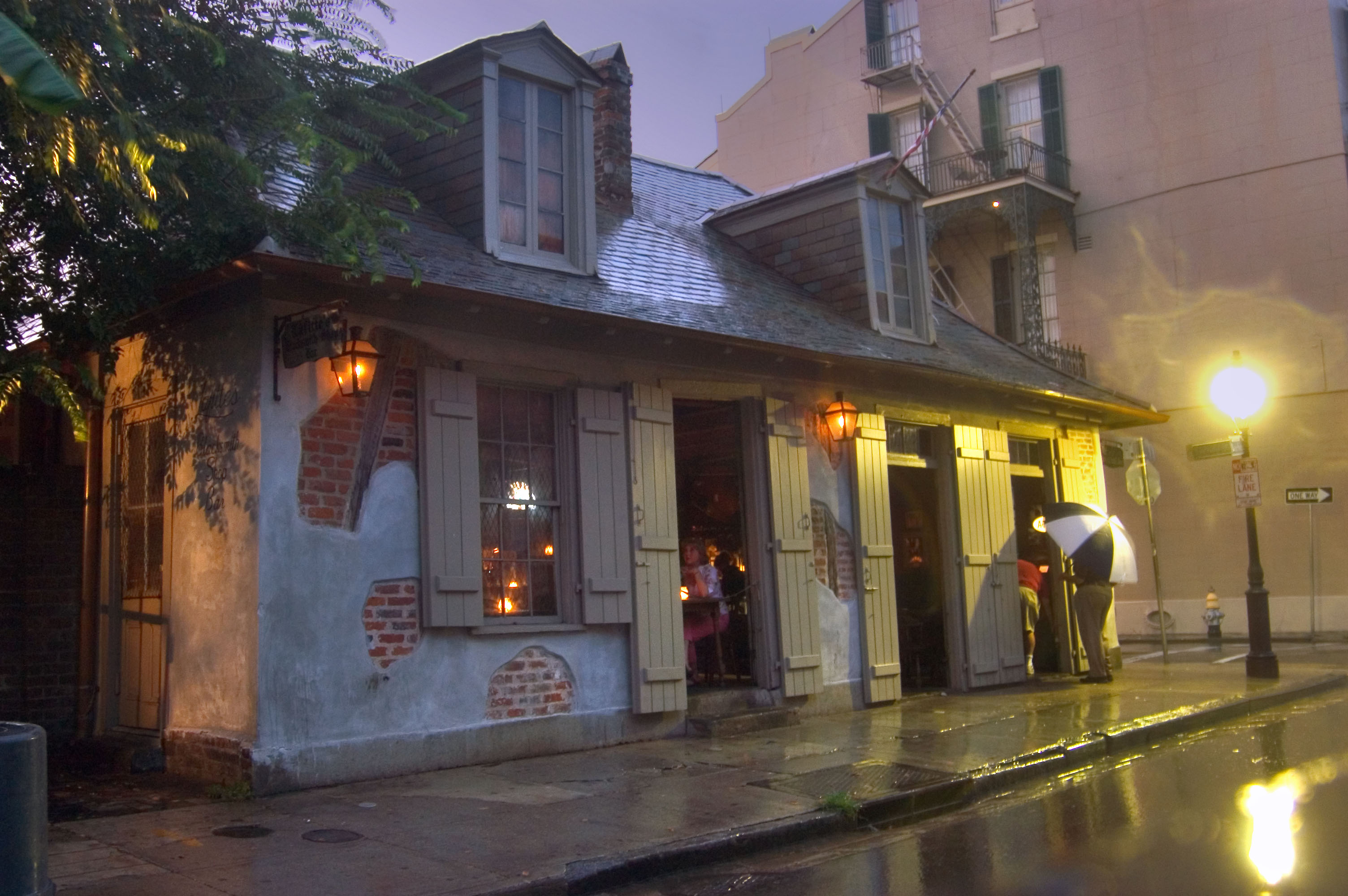 Blacksmith's Shop The Borders and the Southwest, Lafitte's Blacksmith Shop, New Orleans, LA. Oldest bar in the US ...