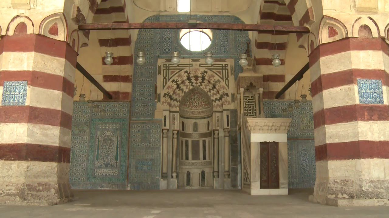 Blue Mosque Cairo, Restoration of Blue Mosque in Cairo - YouTube
