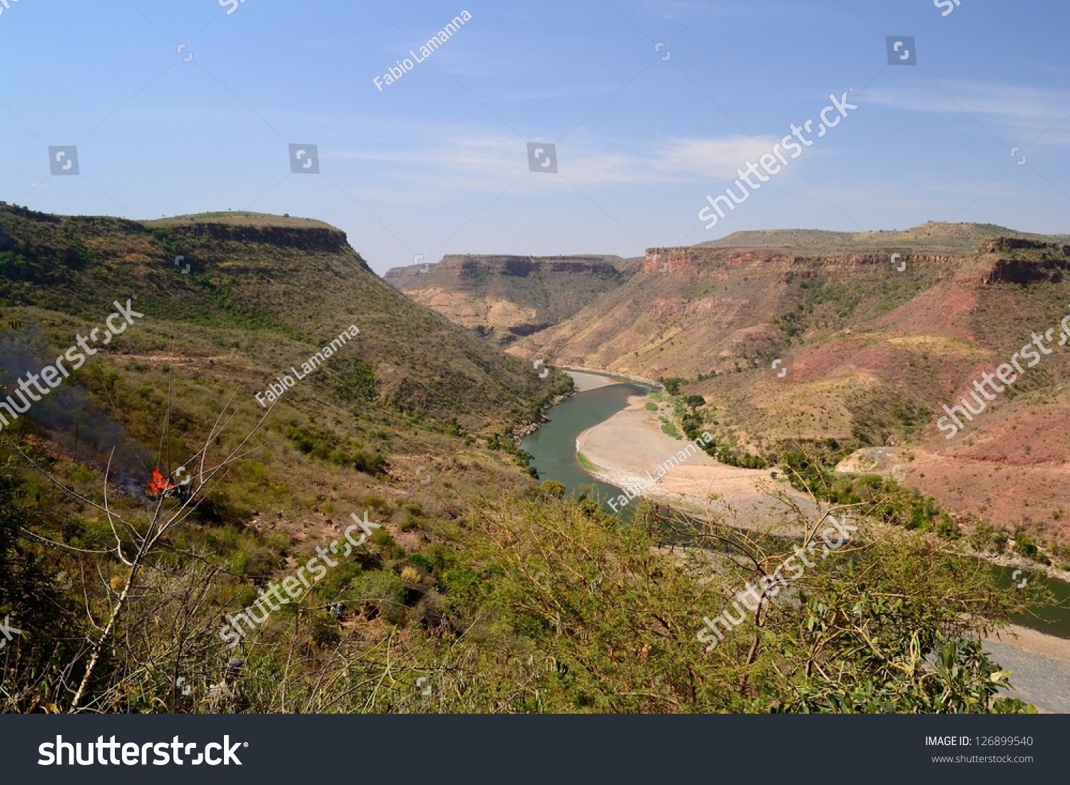 Blue Nile Gorge Northern Ethiopia, Blue Nile Gorge Wide Angle View Stock Photo 126899540 - Shutterstock