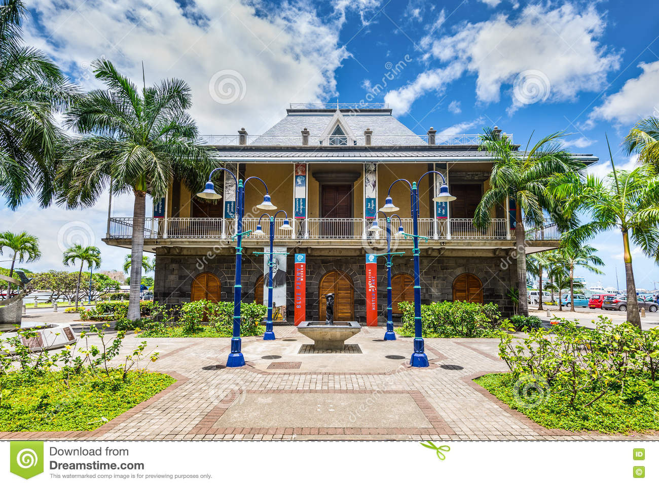 Blue Penny Museum Port Louis, Blue Penny Museum Building In Port Louis, Mauritius Editorial ...