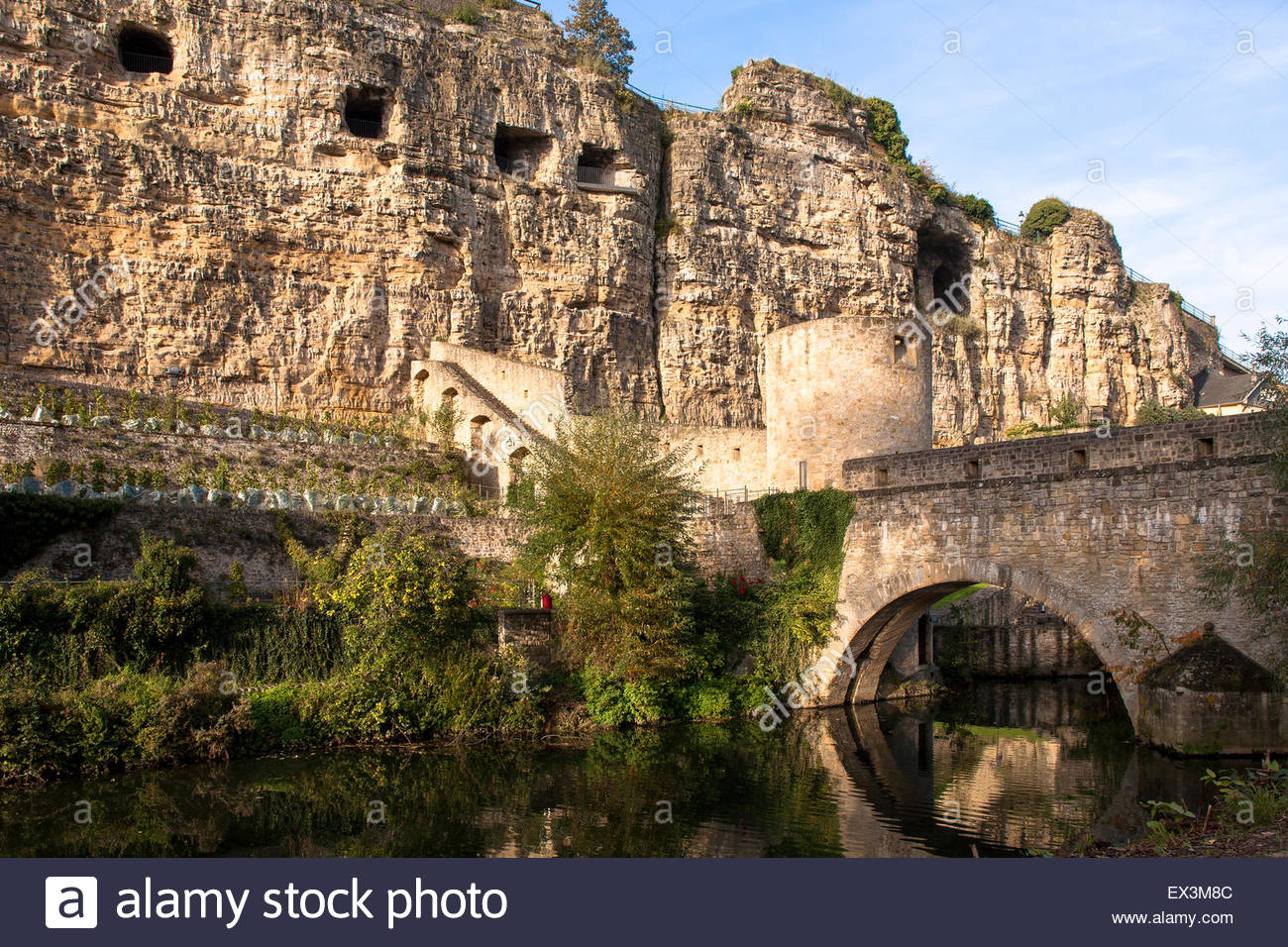 Bock Casemates Luxembourg City, LUX, Luxembourg, city of Luxembourg, the Bock casemates and the ...