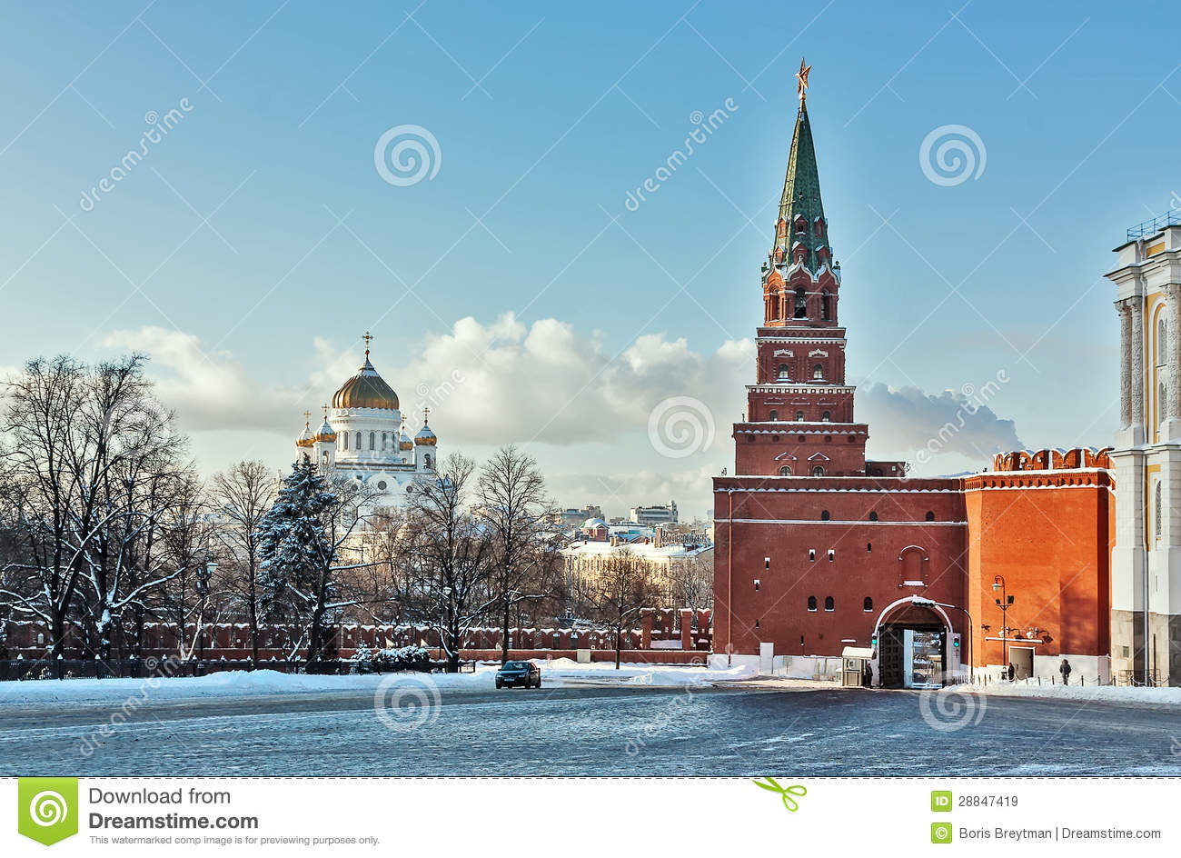 Borovitskaya Tower Moscow, Borovitskaya Tower. Moscow Royalty Free Stock Images - Image: 28847419