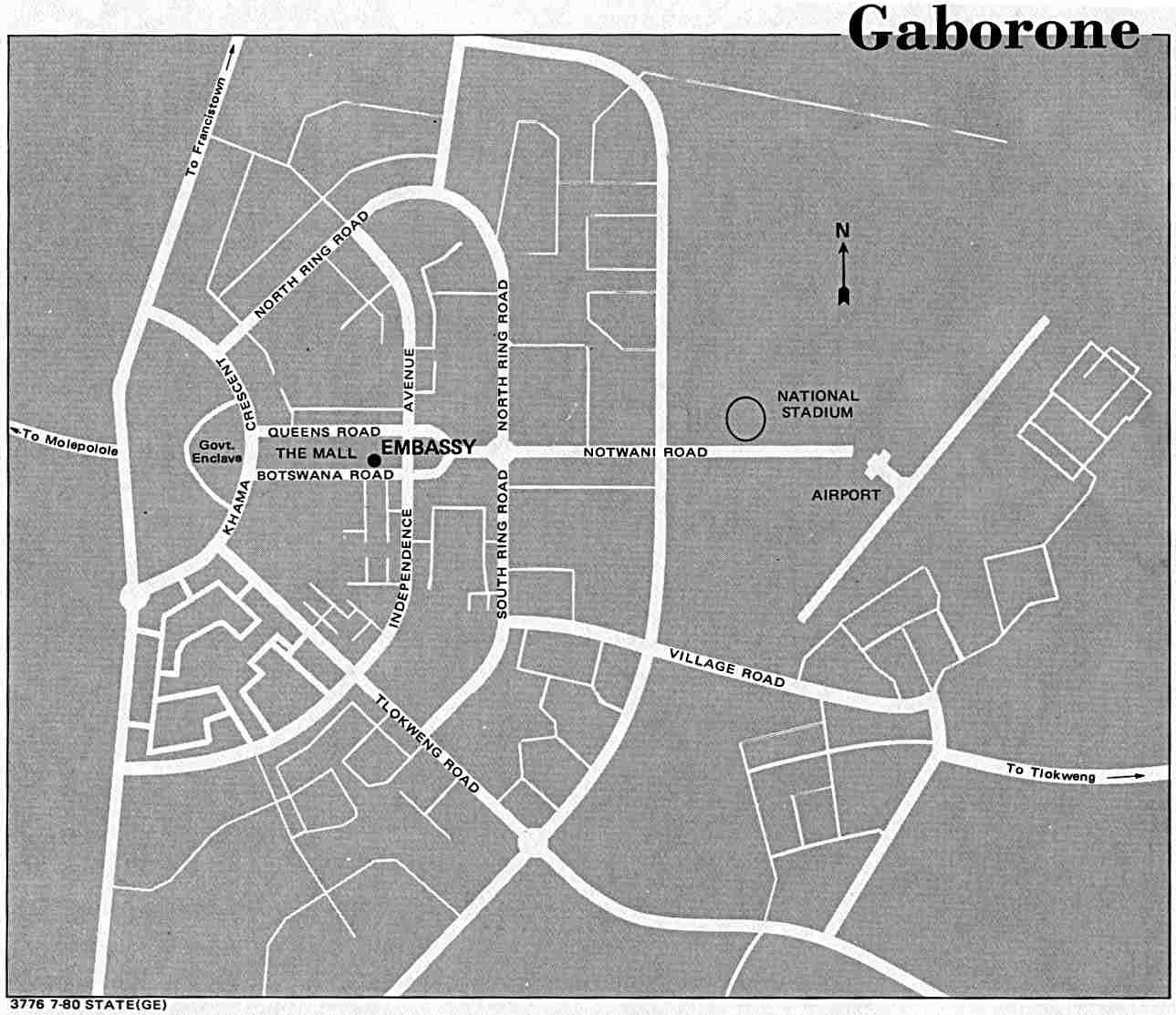 Botswana National Reference Library Gaborone, Botswana Maps - Perry-Castañeda Map Collection - UT Library Online