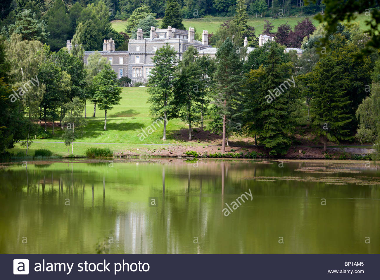 Bowhill The Borders and the Southwest, Bowhill House on the Bowhill Estate in the Scottish Borders Stock ...