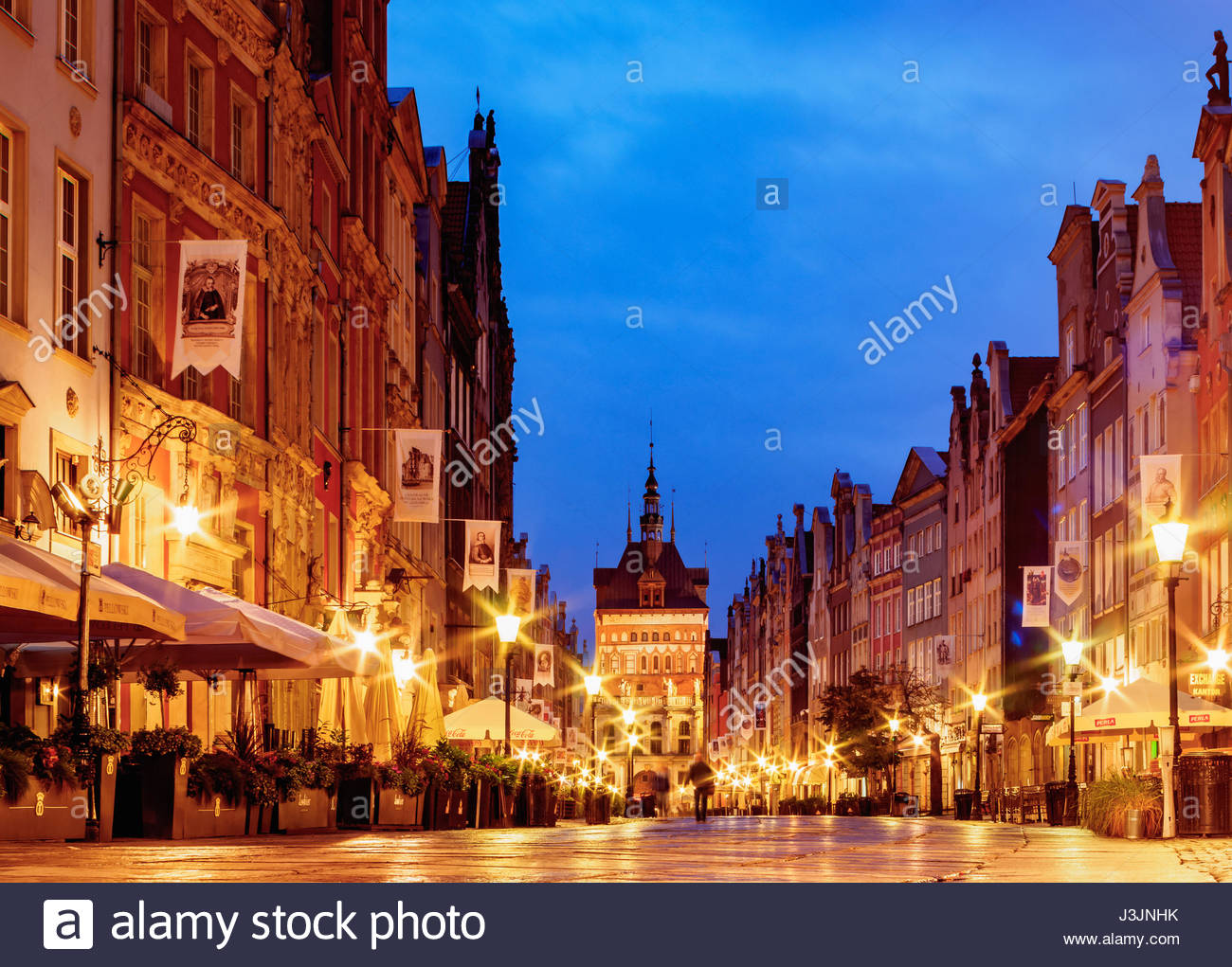Brama Wyżynna The Baltic Coast and Pomerania, Poland, Pomeranian Voivodeship, Gdansk, Old Town, Long Street at ...