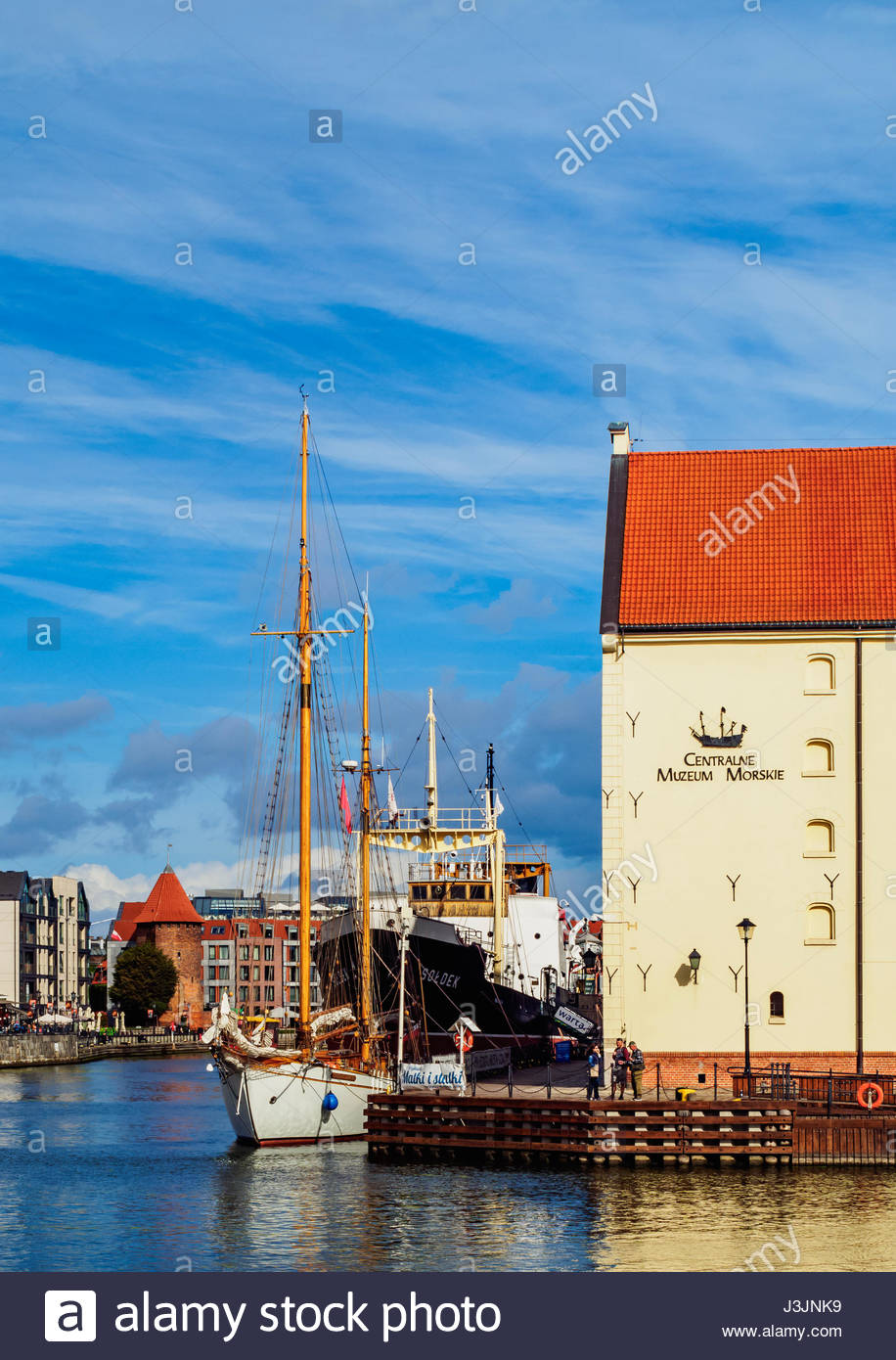 Brama Wyżynna The Baltic Coast and Pomerania, Poland, Pomeranian Voivodeship, Gdansk, Old Town, Ships on the ...