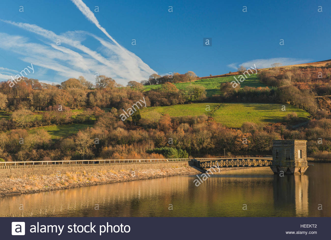 Brecon Beacons National Park South Wales, Talybont Reservoir and Dam Brecon Beacons National Park south ...