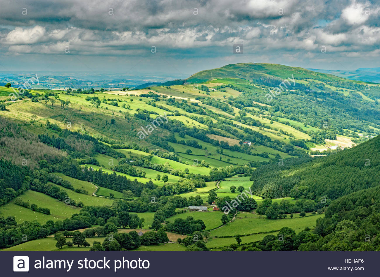 Brecon Beacons National Park South Wales, The Duffryn Crawnon Valley in the Brecon Beacons National Park ...