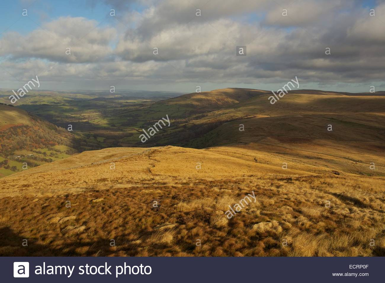 Brecon Beacons National Park South Wales, Autumn light over the Brecon Beacons National Park, South Wales ...
