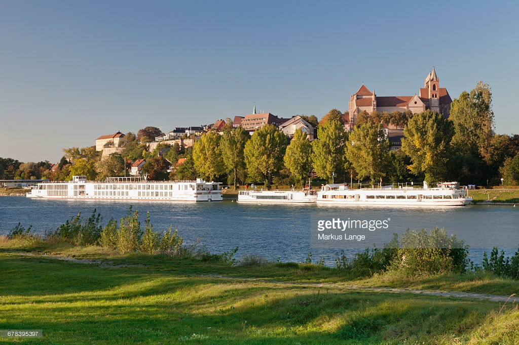 Breisach am Rhine The Black Forest, View Over The Rhine River To Muensterberg Hill With Minster St ...