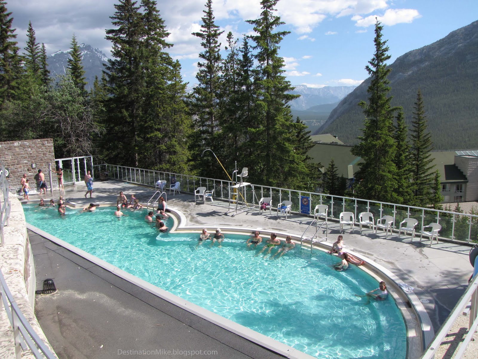 Brewster Attractions Banff National Park, Destination Mike: Relaxing at the Banff Upper Hot Springs