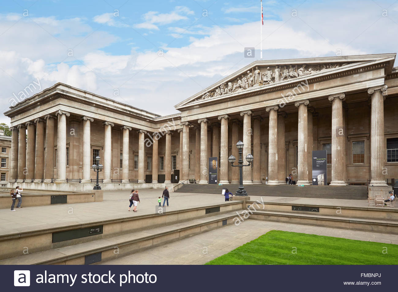 British Museum London, British Museum building with people in London Stock Photo, Royalty ...
