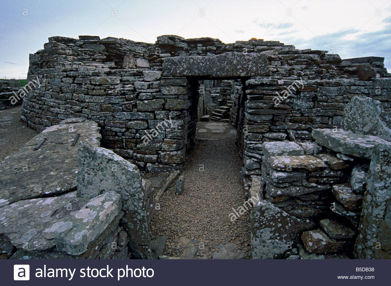 Broch of Gurness (Aikerness Broch) Orkney and Shetland Islands, Pictish Broch Stock Photos & Pictish Broch Stock Images - Alamy