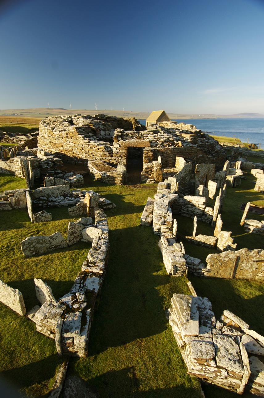 Broch of Gurness (Aikerness Broch) Orkney and Shetland Islands, The Broch of Gurness (also known as Aikerness Broch) on Orkney ...