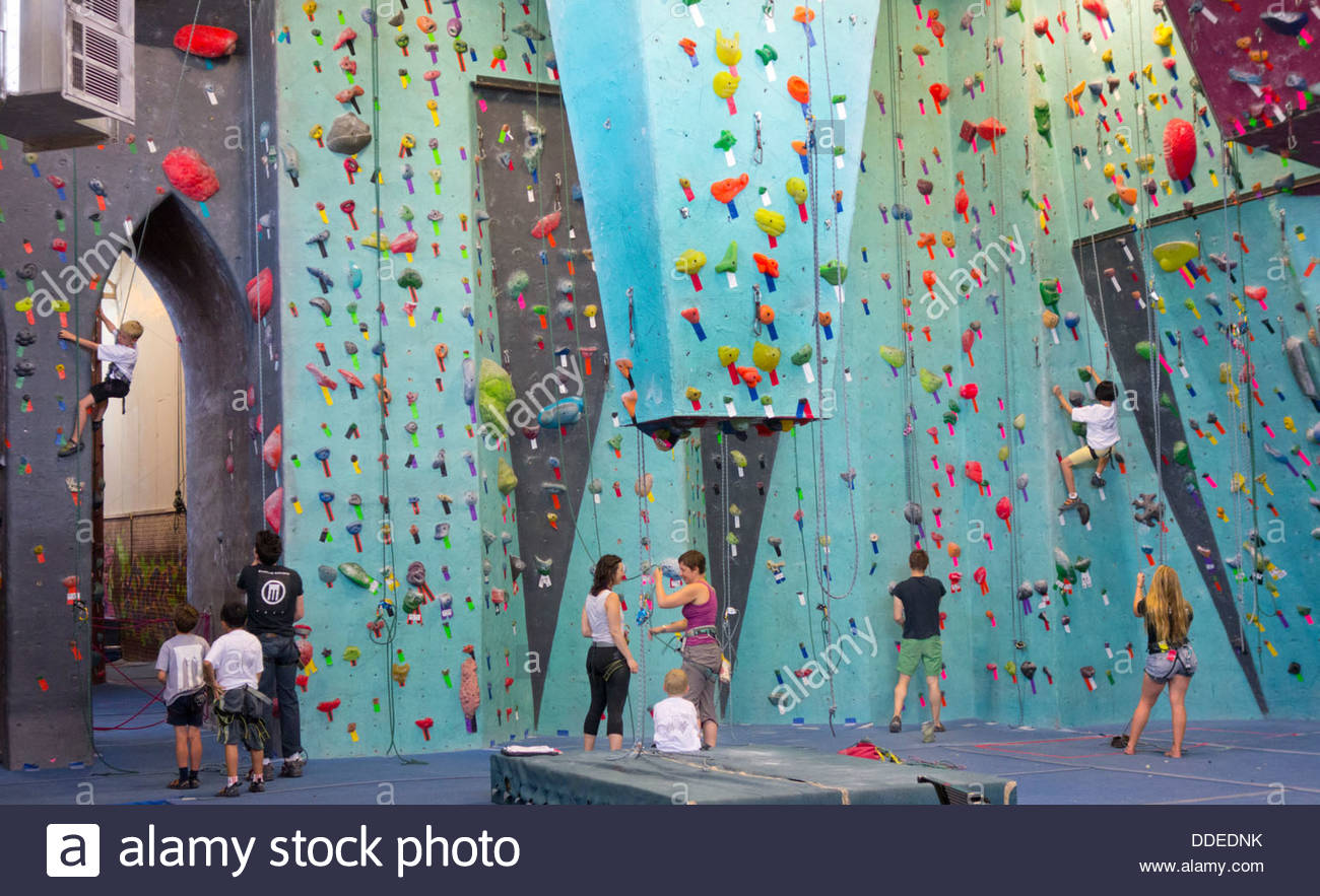 Brooklyn Cyclones New York City, rock climbing at Brooklyn Boulders in NYC Stock Photo, Royalty ...