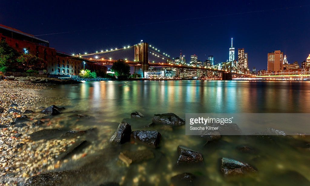 Brooklyn Museum New York City, Manhattan Skyline From Brooklyn Bridge Park At Night New York City ...