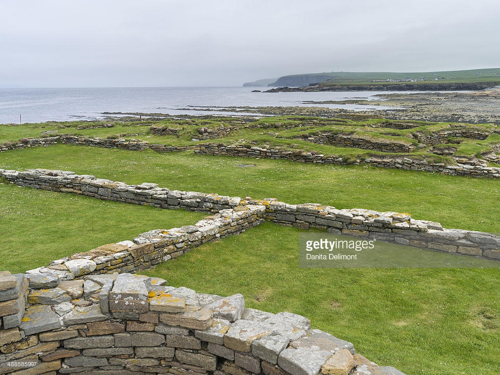 Brough of Birsay Orkney and Shetland Islands, Brough Of Birsay With Ruins Of Pictish And Viking Settlement ...